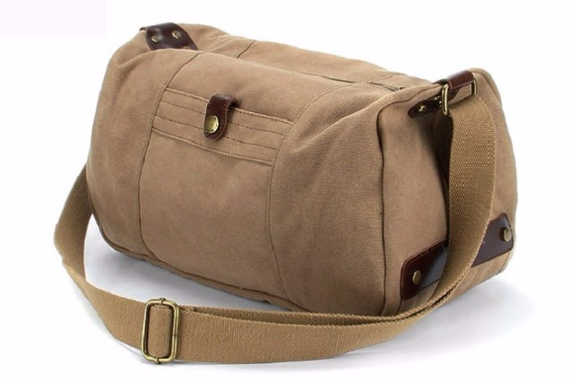 f705e23301a Waxed Canvas Duffle Bag for Unisex,Designer Canvas Tote Bags for ...