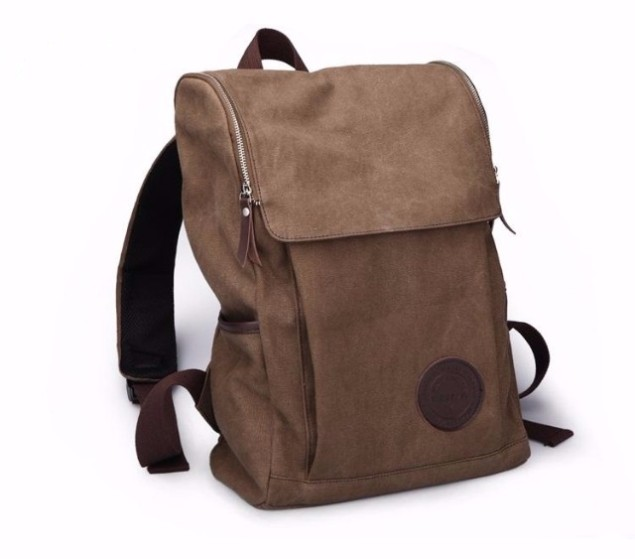 Waxed Canvas Side Bag For College S