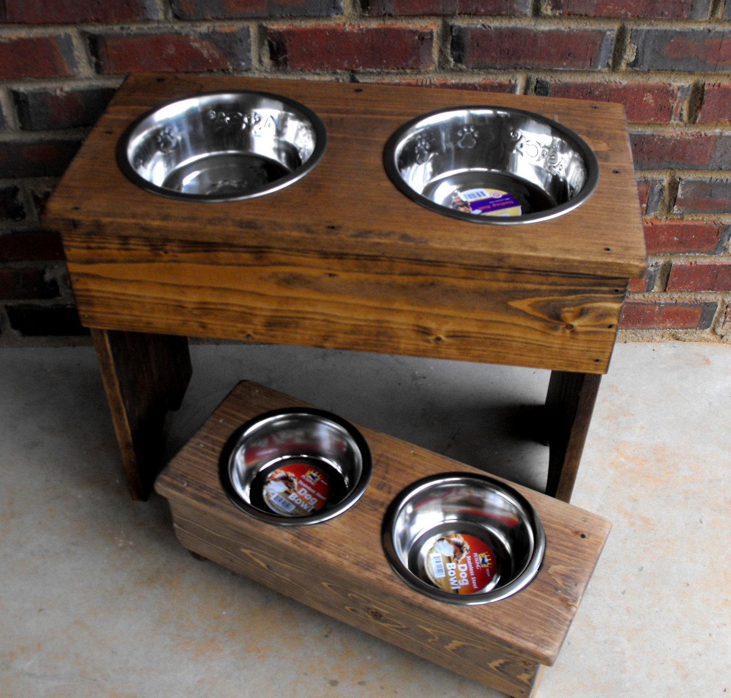 Elevated Double Diner Dog Bowls