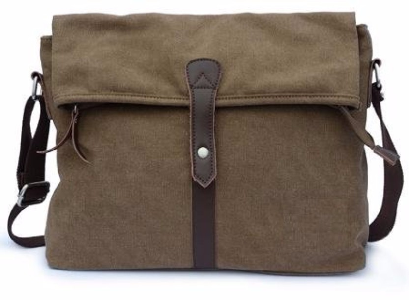 Messenger Canvas Satchel Bag For College Student