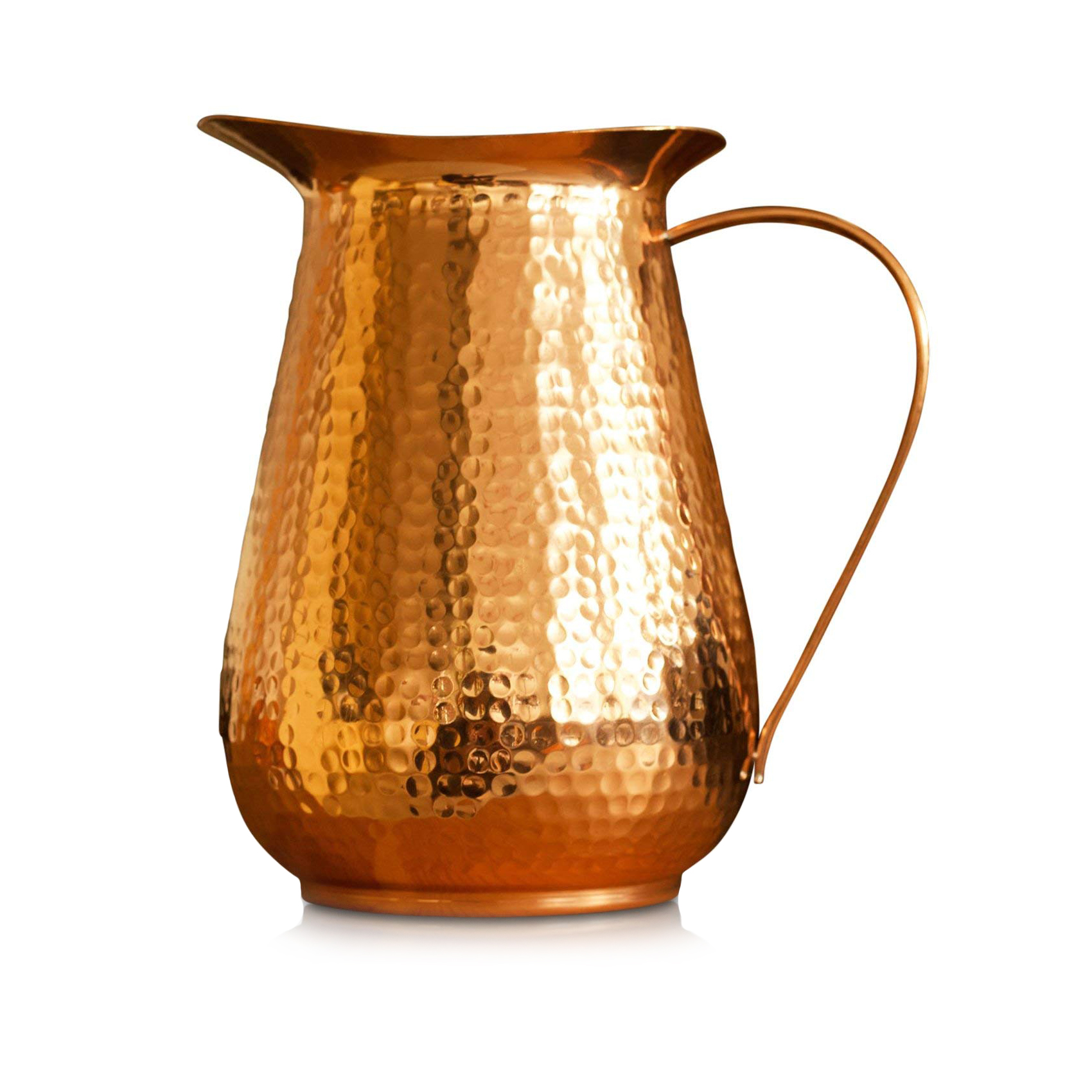 Copper Hammered Water Jug Pitcher