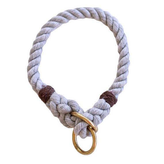 Organic Hand Dyed Cotton Rope Dog Collar Manufacturer