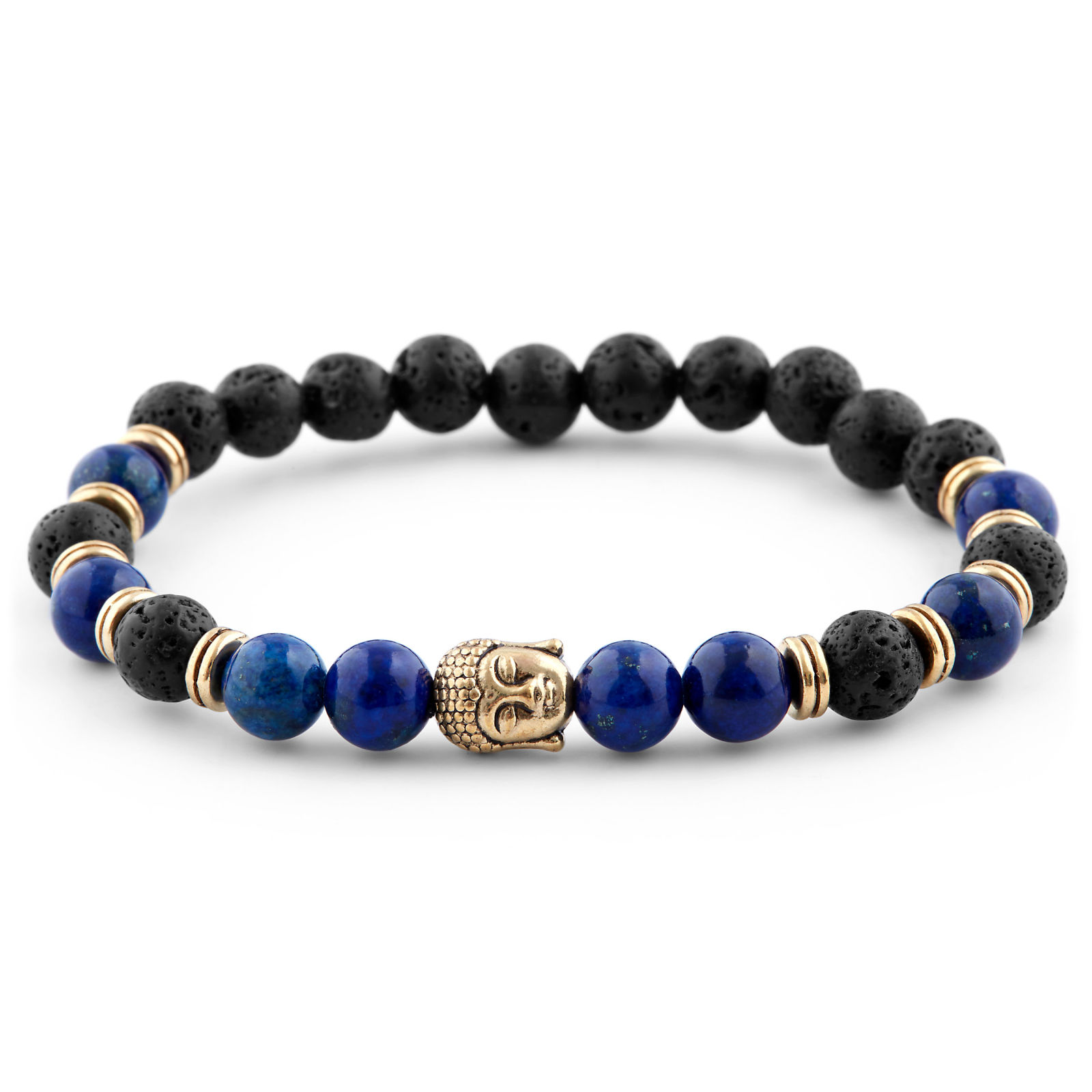 BLUE HOMAGE TO BUDDHA MEN'S BRACELET, private label